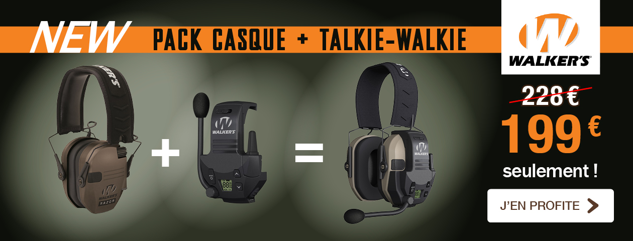 Promo Pack CASQUE + TALKIE-WALKIE