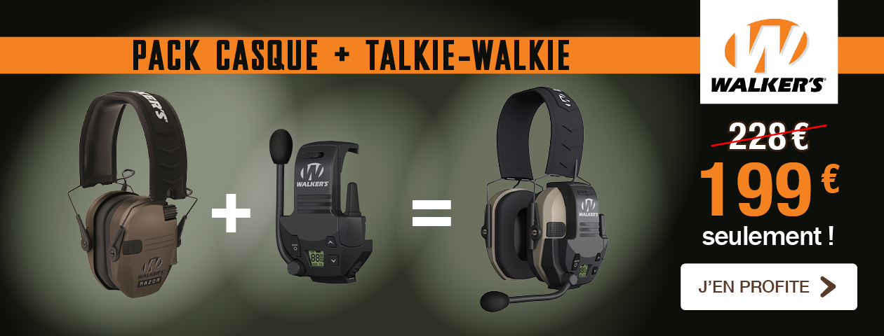 Promo Pack CASQUE + TALKIE-WALKIE