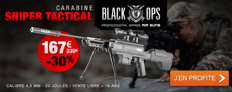 Carabine à plomb Black Ops Sniper Tactical cal 4,5 mm 2 avis | Ajoutez votre commentaire