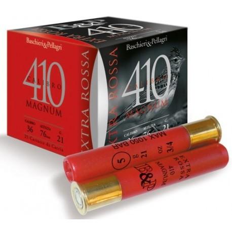Cartouche B & P Extra Rossa 410 Magnum / Cal. 410 - 21 g