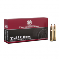 Cartouche RWS / cal. 222 Rem. - T-Mantel 3,24 g