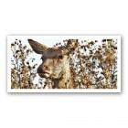 Plaque photo décorative PVC Biche en portrait