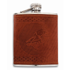 Flasque gainée cuir Albainox motif Sanglier