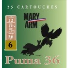 Cartouche Mary Arm Puma 36 / Cal. 12 - 36 g