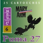Cartouche Mary Arm Puma 27 / Cal. 20 - 27 g