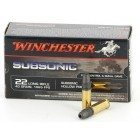 Cartouches 22 LR Winchester Subsonic