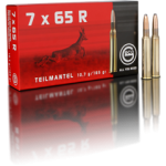 Cartouche Geco / cal. 7x65 R - T-Mantel 1/2 Bl. 10,7 g