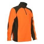 Polo de chasse Percussion polaire Orange - Kaki