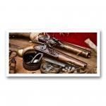 Plaque photo décorative ALU Pistolets PN