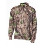 Tee-shirt col zip Sportchief - Québec Tracker Green