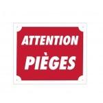 Pack 10 pancartes de chasse ATTENTION PIÈGES