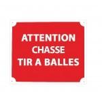 Pack 10 pancartes de chasse TIR A BALLES