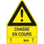 Pack 3 panneaux triangulaires CHASSE EN COURS