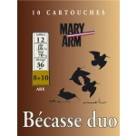 Cartouche Mary Arm Bécasse duo ARX / Cal. 12 - 36 g