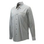 Chemise de chasse Beretta Wood Plain Collar - Blanc & Bleu