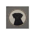 Coussin tête Labrador noir