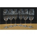 Flûtes gravées Champagne