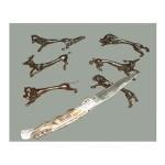 Porte-couteaux étain et bronze