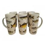 Service 6 mugs Poissons