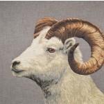 Grand coussin Mouflon clair