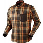 Chemise de chasse Härkila Amlet Shadow brown - Taille XL