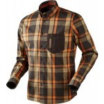 Chemise de chasse Härkila Amlet Shadow brown - Taille L