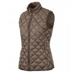 Gilet ouatiné plumes Femme Stagunt Jensen Coffee