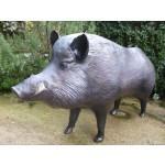Sculpture animalière Cap Vert Sanglier sur pied