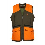 Gilet de chasse ProHunt Grouse Kaki - Orange