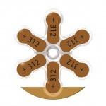 Piles 312 pour oreillettes antibruit Alvis Tir II
