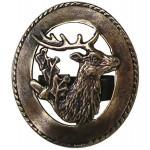 Bolo-tie bronzé / tête de Cerf