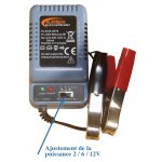 Chargeur de batterie 6 / 12 V pour agrainoirs automatiques