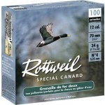 Pack 200 cart. Rottweil Spécial Canard / Cal. 12 - 34 g