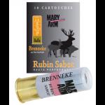 Cartouche Mary Arm Brenneke Rubin Sabot / Cal. 12 - 28 g