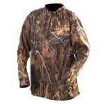 Tee-shirt col zip Sportchief / Roseaux