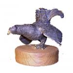 Bronze Tétras sur socle bois