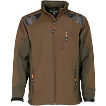 Blouson softshell Percussion Vert - Marron