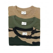 Pack 3 tee-shirts Percussion Beige - Kaki - Camo