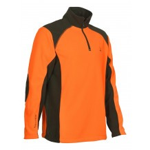 Polo de chasse Percussion polaire Orange - Kaki