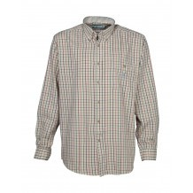Chemise chasse Percussion carreaux Ocre