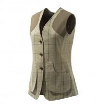 Gilet de chasse Femme Beretta St James - Tweed Vert
