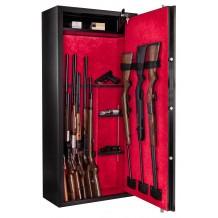 Armoire forte Rietti Premium modulable 14 armes / 9 armes + étagères