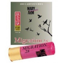 Pack 100 cart. Mary Arm Migration 28 / Cal. 20 - 28 g
