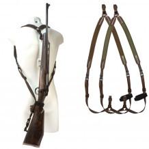 """Bretelle carabine néoprène Niggeloh """"sac à dos"""" / Vert"""