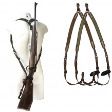 """Bretelle carabine néoprène Niggeloh """"sac à dos"""" / Marron"""