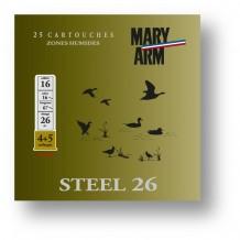 Cartouche Mary Arm Steel 26 / Cal. 16 - 26 g