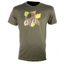Tee-shirt kaki Sanglier Somlys 050K