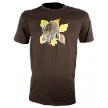 Tee-shirt marron Sanglier Somlys 050M