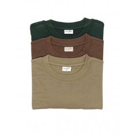 Pack 3 tee-shirts Percussion Kaki - Beige - Marron