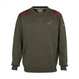 Pull de chasse Percussion col rond brodé Cerf - Taille 3XL